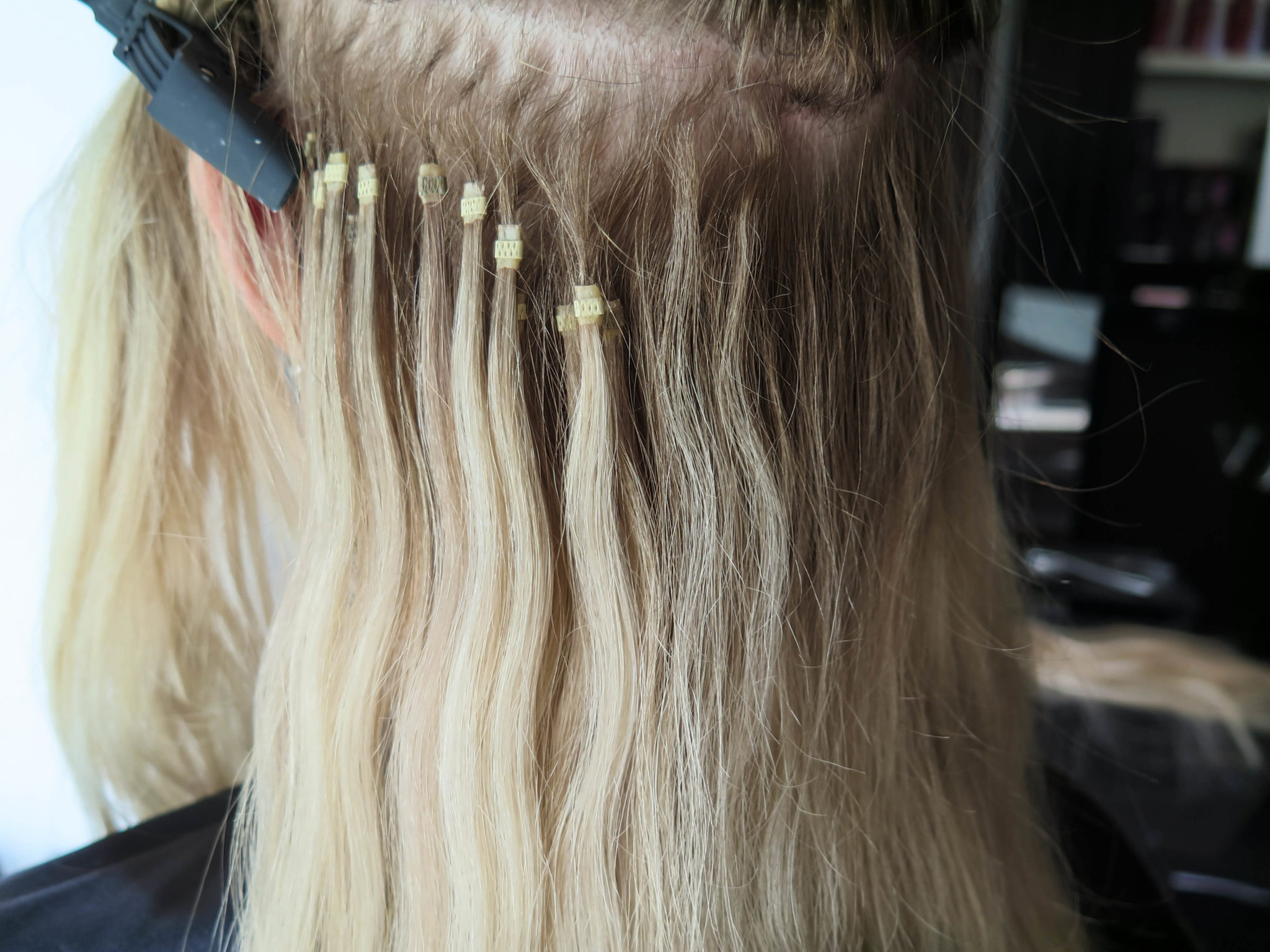 sliter hårförlängning mycket