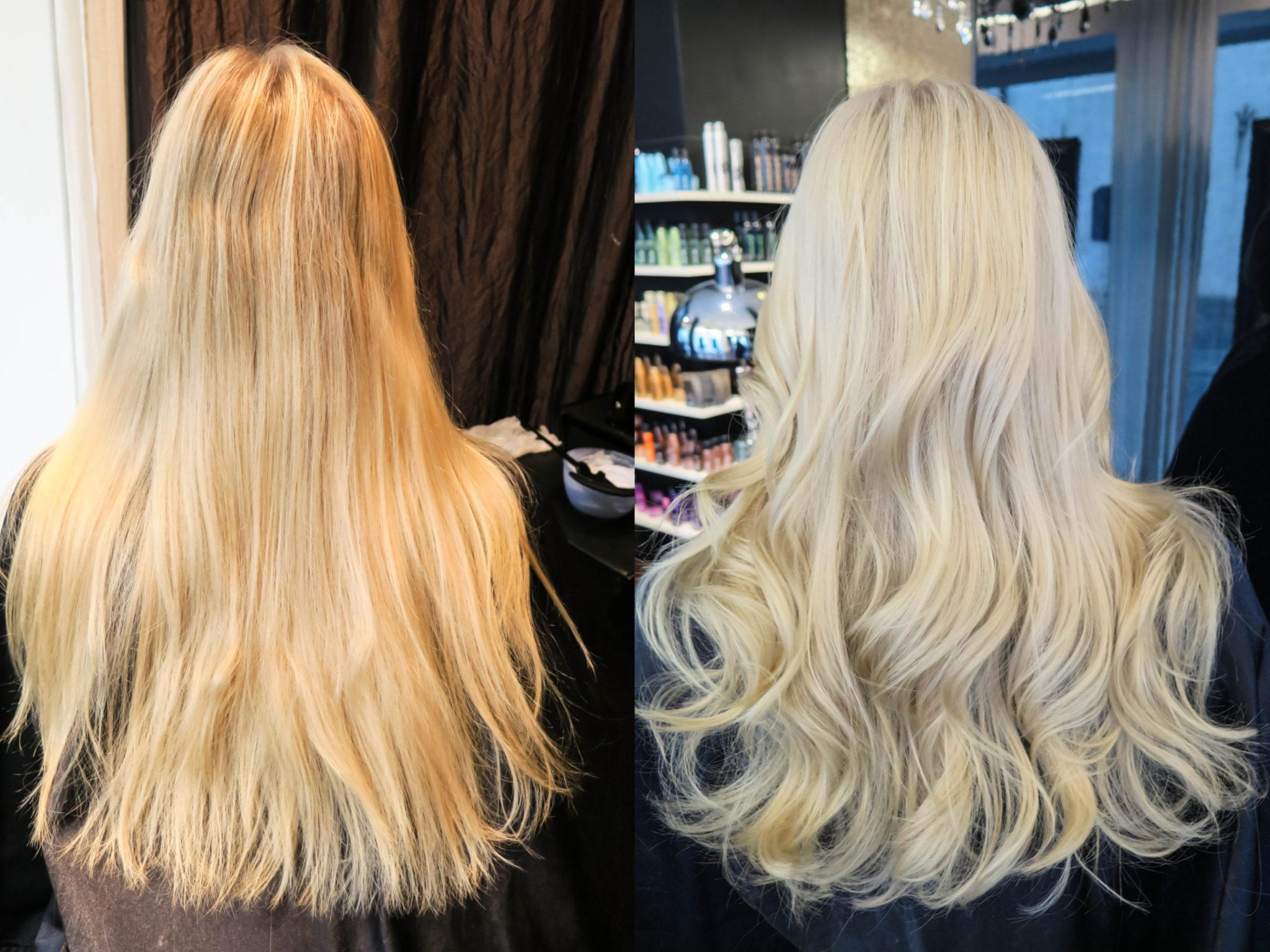 nyansering blont hår